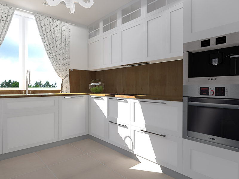 Bakusiowa Kuchnia  projekt (nie)ostateczny -> Kuchnia Wanilia Dąb