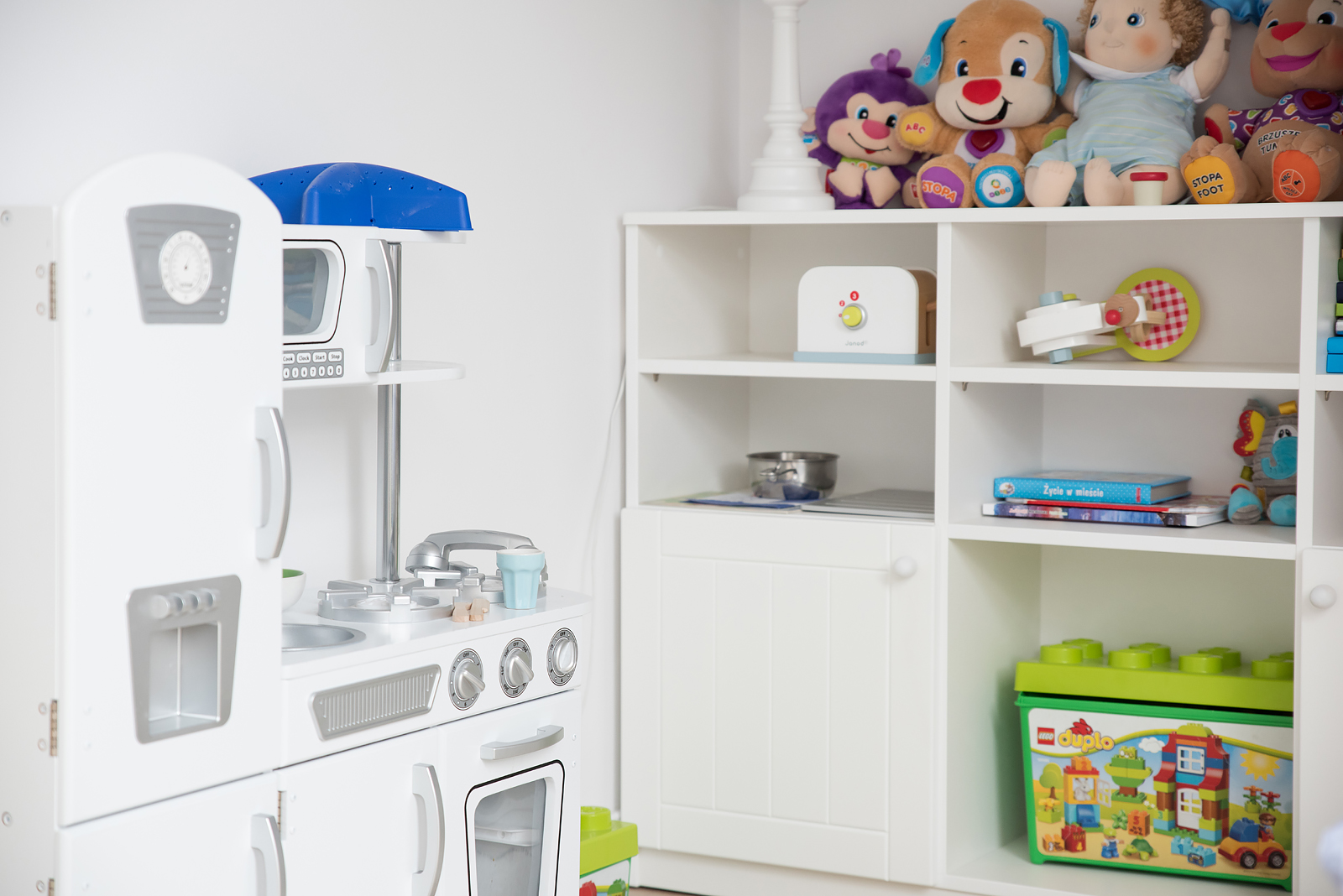 biala kuchenka dla dziecka